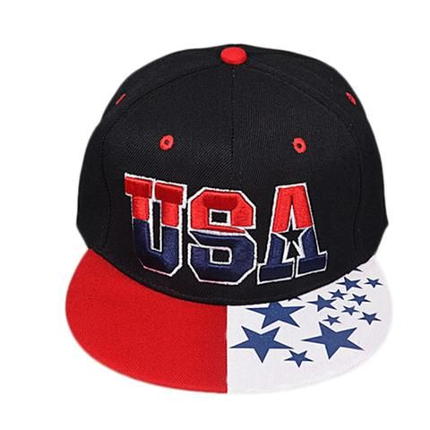 The Flag Of The United States Letter USA Cap Adjustable Hat Snapback O – outdoorman.ca