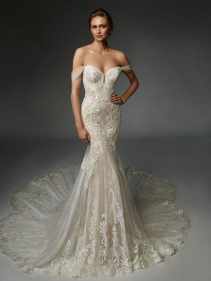 Athénaïs in 2020 Enzoani wedding dresses, Detachable