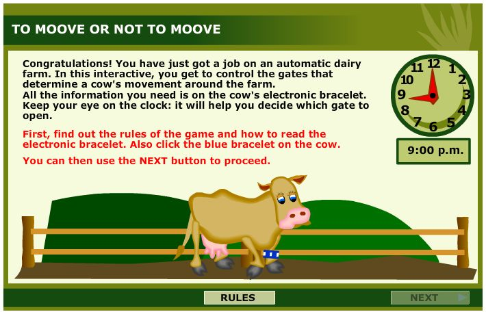 Control the gates on the automatic dairy farm and make sure you keep your cows happy and healthy!