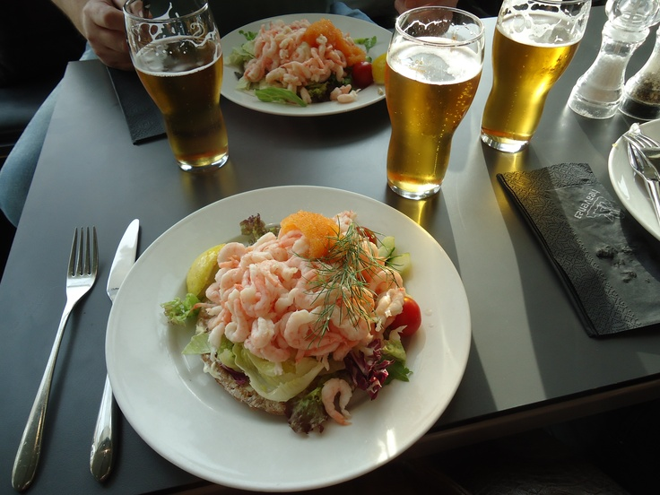 Traditional Swedish shrimp sandwich!