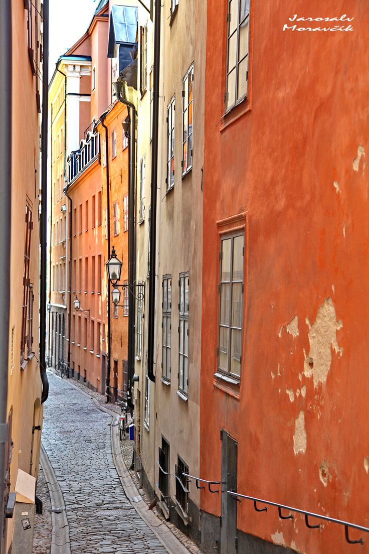 Old town of city Stockholm, Sweden