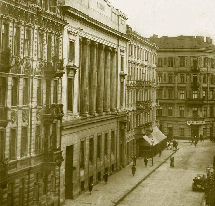 międzywojnie; Ulica Koszykowa, widok w stronę ulicy Mokotowskiej;  https://web.facebook.com/1045516712207590/photos/a.108382088