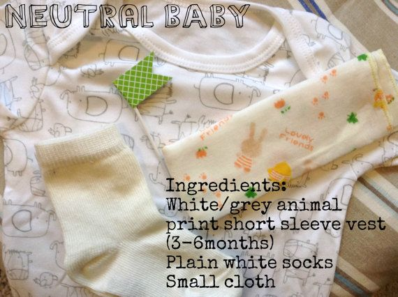 Baby clothes cupcake gift New Baby by Windovertide on Etsy