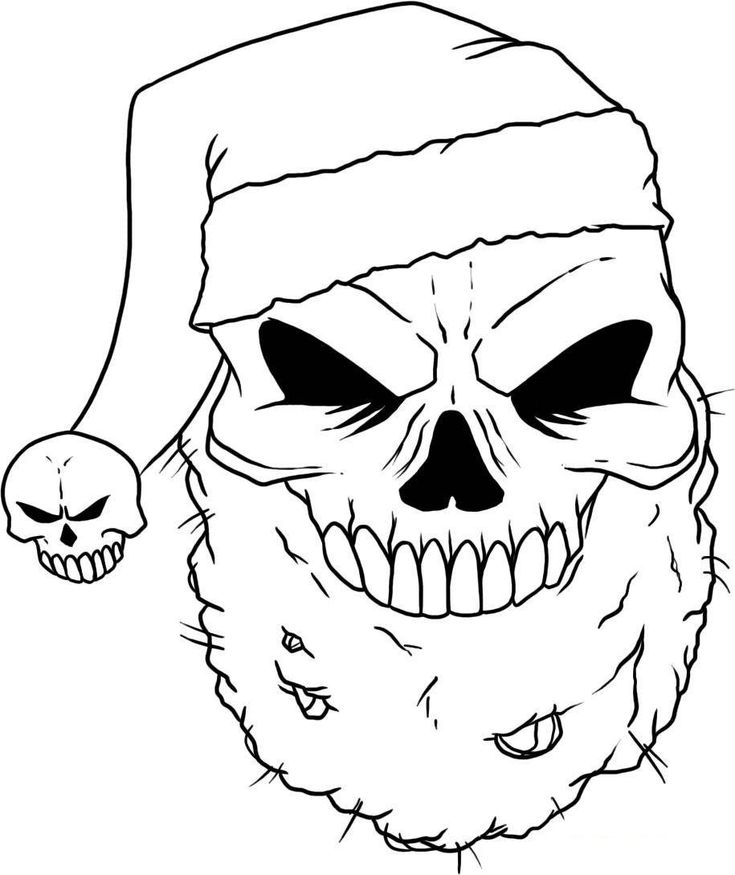 cool halloween skull coloring pages - photo#14