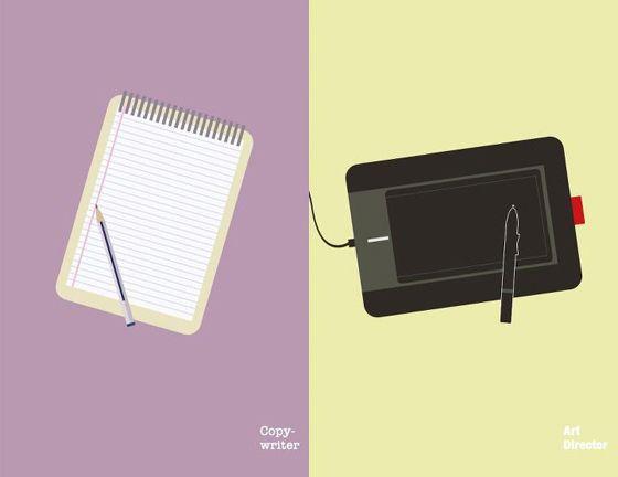 #Copywriter vs #ArtDirector | #flat #design
