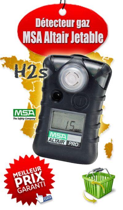 Détecteur Monogaz portable Jetable 24 Mois - MSA Gallet 10071361 ALTAIR, H2S, 5/10 ppm. L'ALTAIR h2s, Un triple système d'alarme alerte l'utilisateur instantanément d'un éventuel changement de conditions et un vaste choix d'accessoires garantit le confort de l'utilisateur.