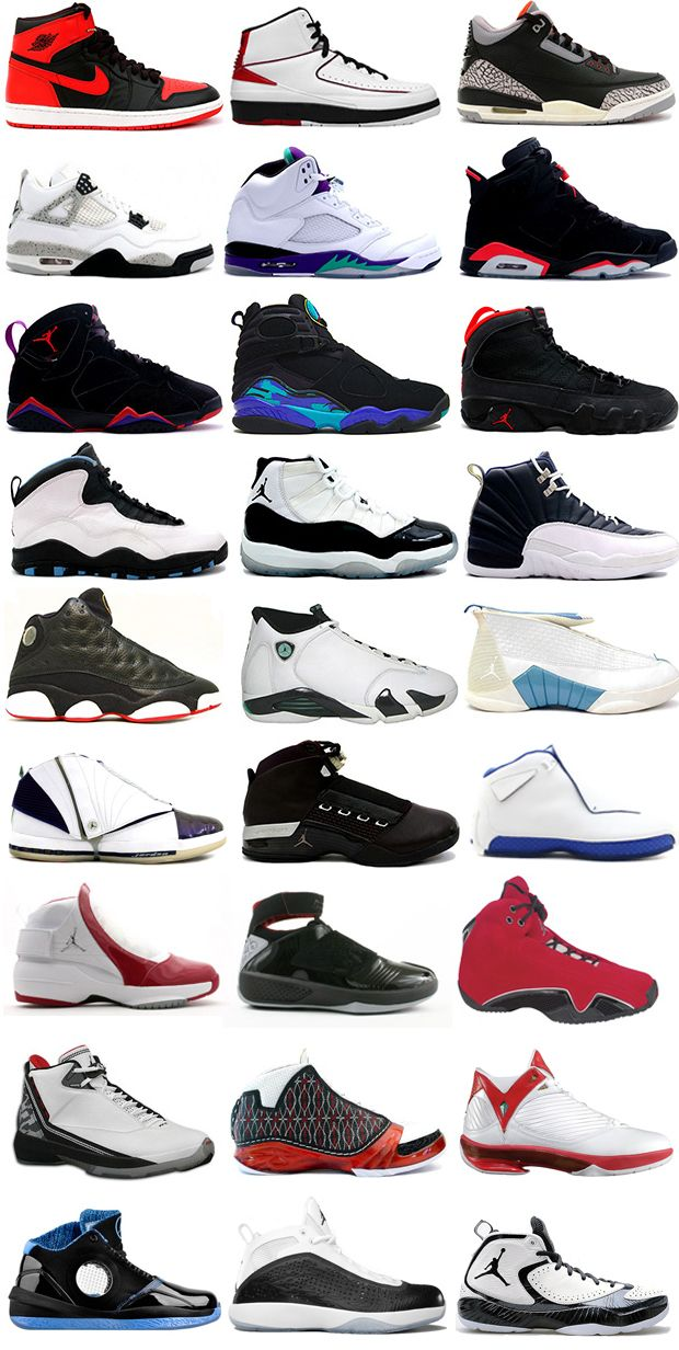 all jordan shoes names
