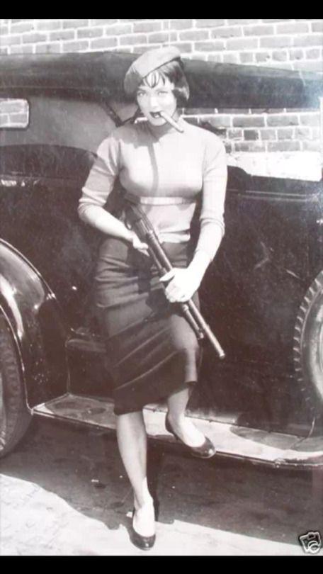 Carolyn Jones with a rifle