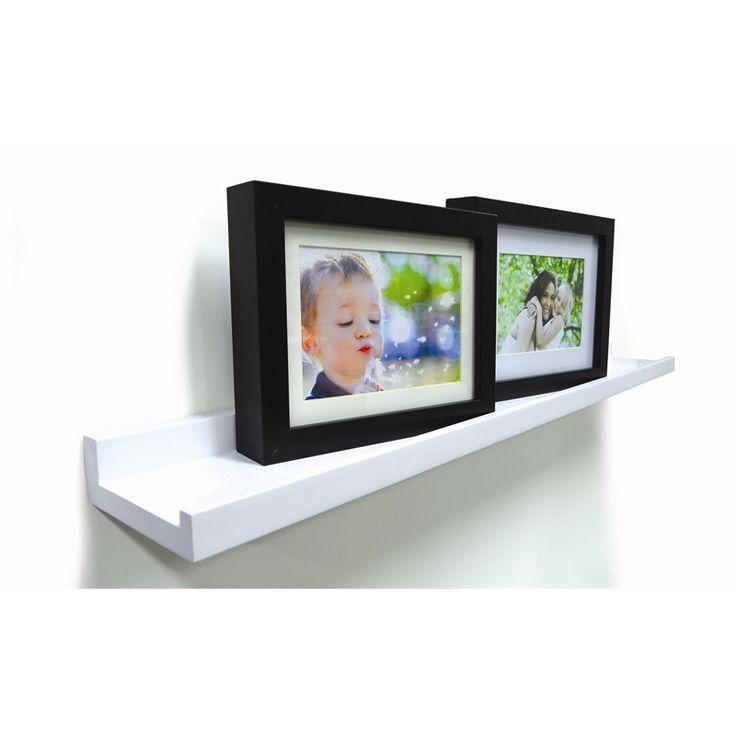 Handy Shelf Photo Shelf 600mm White Gloss