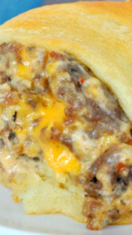 Cheesy Sausage Crescent Ring ~ Easy, delicious and a crowd pleaser!