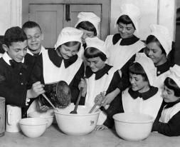 Pupils baking together