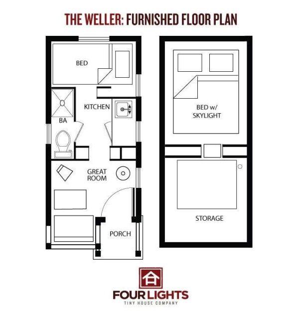 17 besten tiny house plans bilder auf pinterest kleine. Black Bedroom Furniture Sets. Home Design Ideas