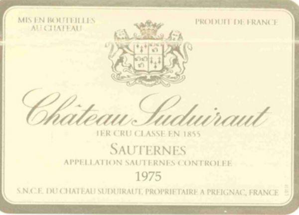 1975 Château Suduiraut