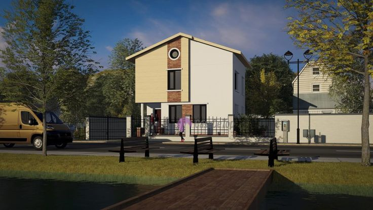 Casa mica organizata pe parter si etaj 82 mp utili- Zona acces principal| Single-family dwelling- The main access| Etichete: proiect casa, proiecte case, proiecte case mici, proiecte case mici cu etaj, case mici, proiecte case moderne