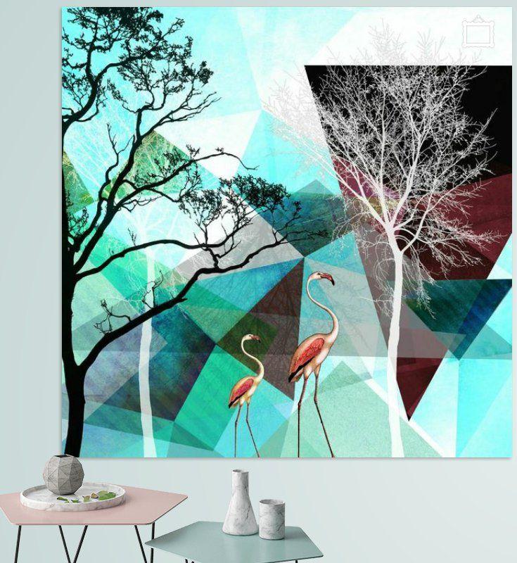 Neu in meiner Galerie bei OhMyPrints: FLAMINGOS P26. #art #kunst #ohmyprints #piaschneider #ateliercolourvision #flamingos #landschaft #modernekunst #abstraktekunst #surreal #geometrie