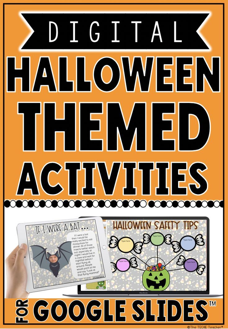 Digital halloween activities in google slides™ Halloween