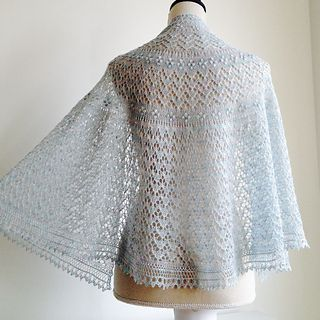Akerselva is a half-pi shawl featuring the Estonian lace ...