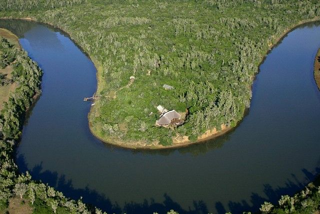 Sibuya Forest Camp Aerial View