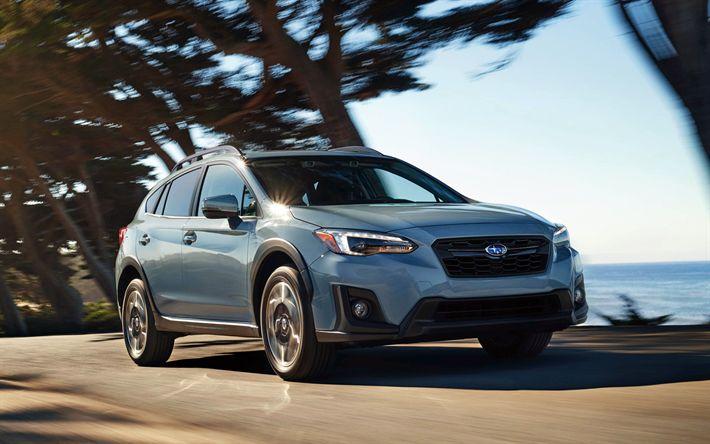Descargar fondos de pantalla Subaru Crosstrek, 4k, 2018 autos, crossovers, el movimiento, el Subaru