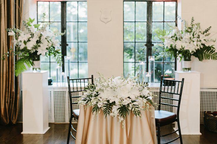Beautiful Sweetheart Table Design | Alden Castle: A LONGWOOD Venue | nicolebaasphotography.com