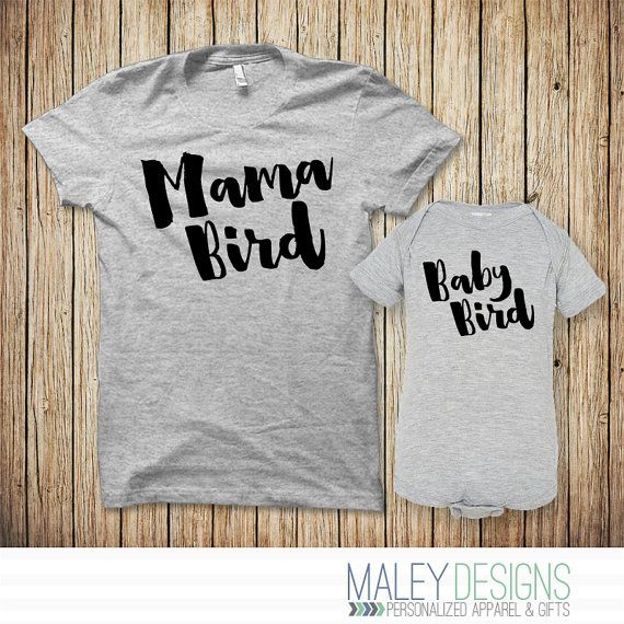 Hey, I found this really awesome Etsy listing at https://www.etsy.com/ca/listing/449090454/mama-bird-baby-bird-set-mama-bird-shirt