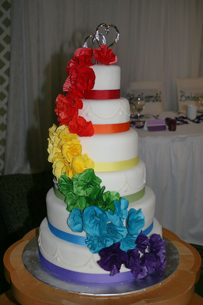 ... Rainbow Wedding Cake | by ARK Squared