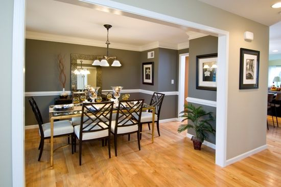 I like the open floor plan and the wall color. This would ...