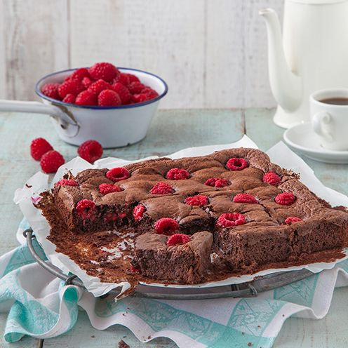 Low-fat chocolate brownie
