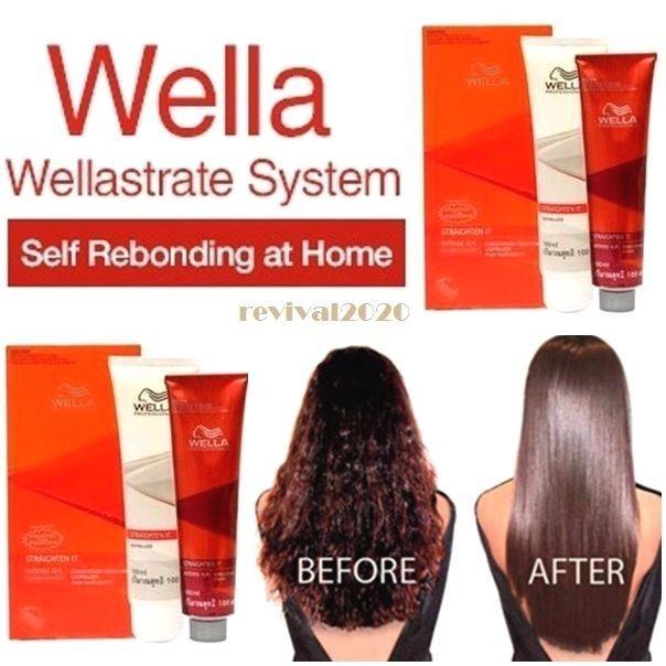 Wella N/R intense smooth kit straightener permanent hair straightening cream  #Wella