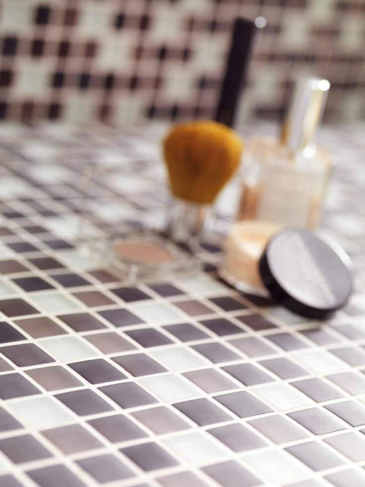 Glas mosaik - det gør altså noget ved dit badeværelse!