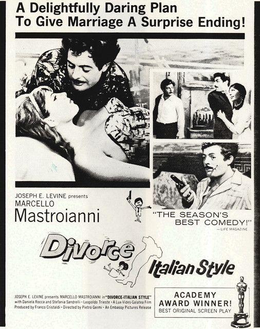 Italian movie ad, Divorce Italian Style / Divorzio all'italiana, Pietro Germi…