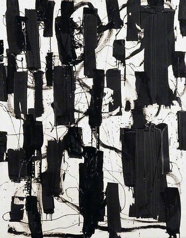 Patrick Heron painting | 'Black and White'