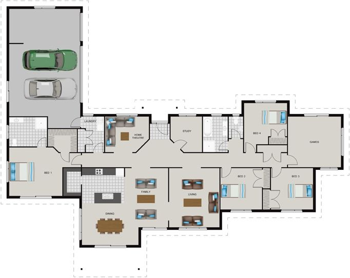 "GJ Gardner | House Design | LOVE this house plan!!!! Definitely a ""if we win lotto"" idea"