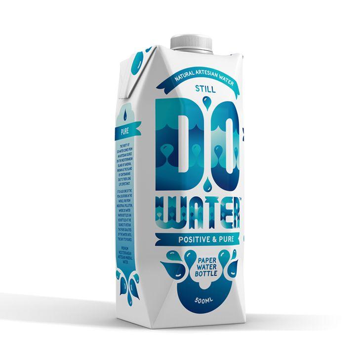 Do Water. The 'Positive & Pure' paper water bottle. #positiveandpure #dowater www.dowater.com.au