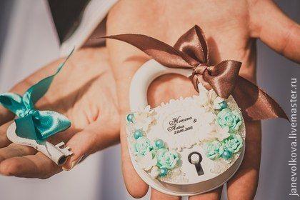 Свадебный замочек в мятном цвете - мятный,мятная свадьба,замочек любви