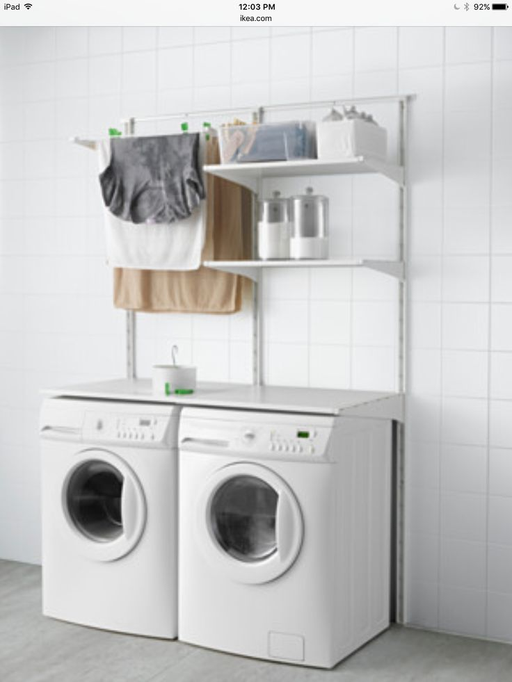 I really like the flexibility of this system. I think this would work great in a closet laundry room.