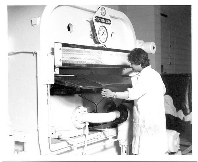 Processing leather Avenue Campus Northampton c.1980s (NENE-photos) by University of Northampton Archive, via Flickr