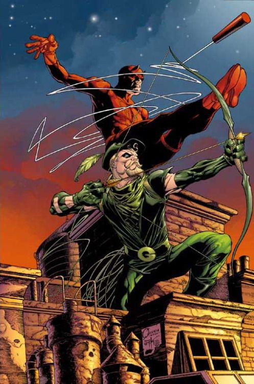 Daredevil and Green Arrow by Joe Quesada