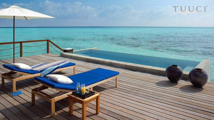 TUUCI parasols adorn the Four Seasons Maldives