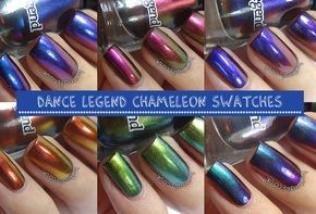 Brit Nails: Dance Legend Chameleon Collection Swatches and Review