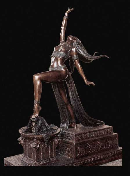 Salome - Tienie Pritchard South African Artist Sculptor of the nude, Internationally renowned Bronze sculptor
