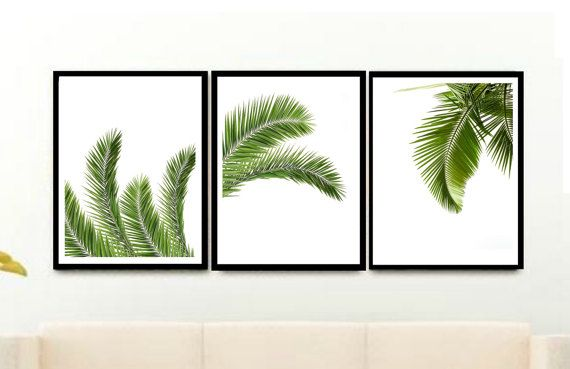 3 Prints from $21.00 on Etsy Palm leaf Print Set of 3 Prints Triptych Tropical Print