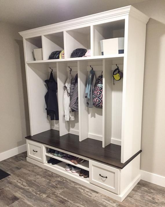 THE MERRICK Locker unit with shoe storage | Mud room storage