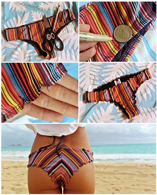 Bikini Facelift: DIY Scalloped bottoms. | Goldfish Kiss