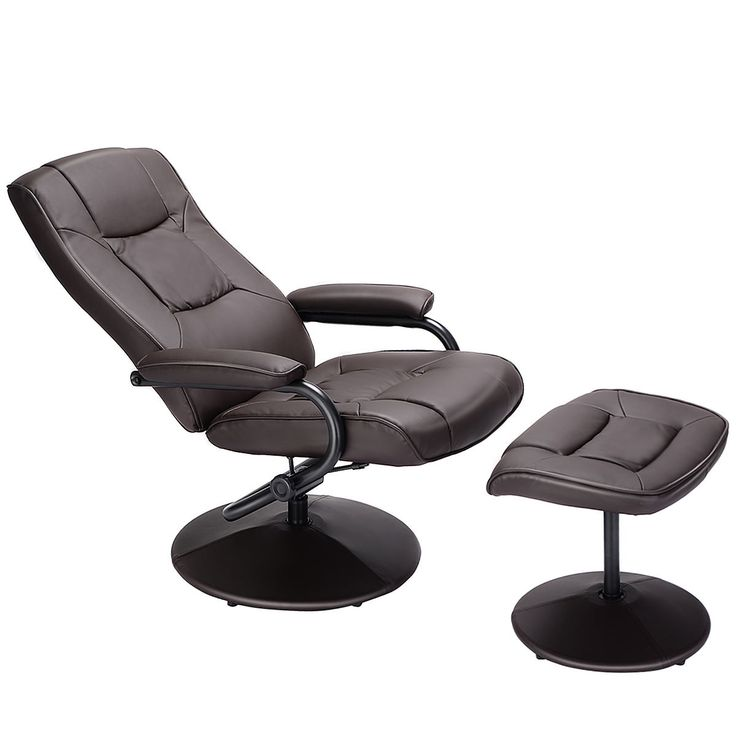 Swivel Lounge Chair Recliner with Ottoman | Recliner with ...