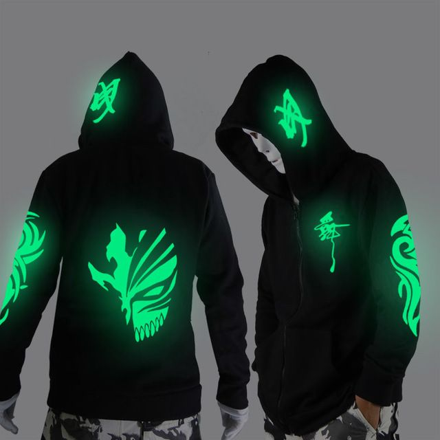 Promo $24.21, Buy Noctilucent long-sleeved jacket clothes loose coat and students fashion clothing dance night shining clothing ghost dance