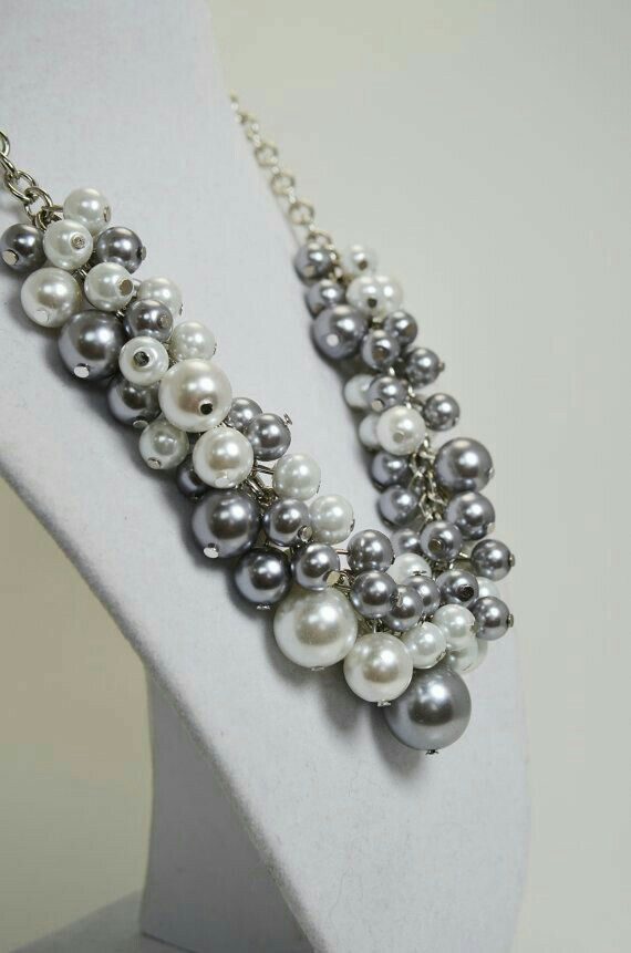 Grey Pearls - amzn.to/2goDS3g - jewelry womens necklace ring - http://amzn.to/2hR83wC