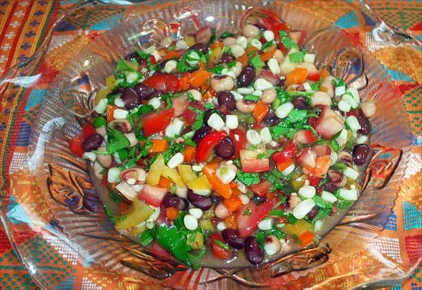 This is awesome with frito scoops - very healthy and cool for summer appetizers