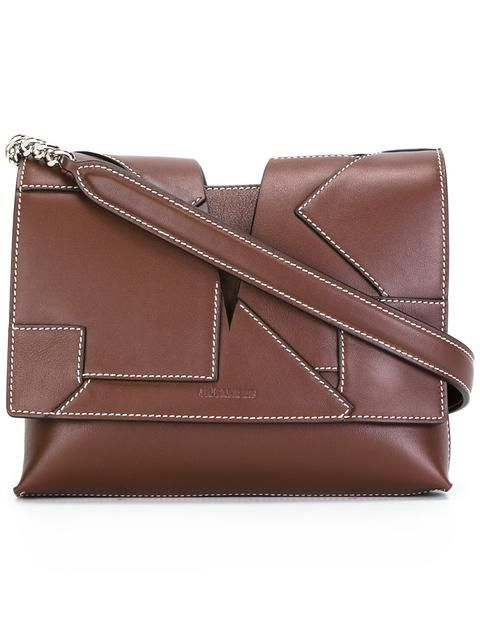 JIL SANDER Stitched Panel Cross-Body Bag. #jilsander #bags #leather #