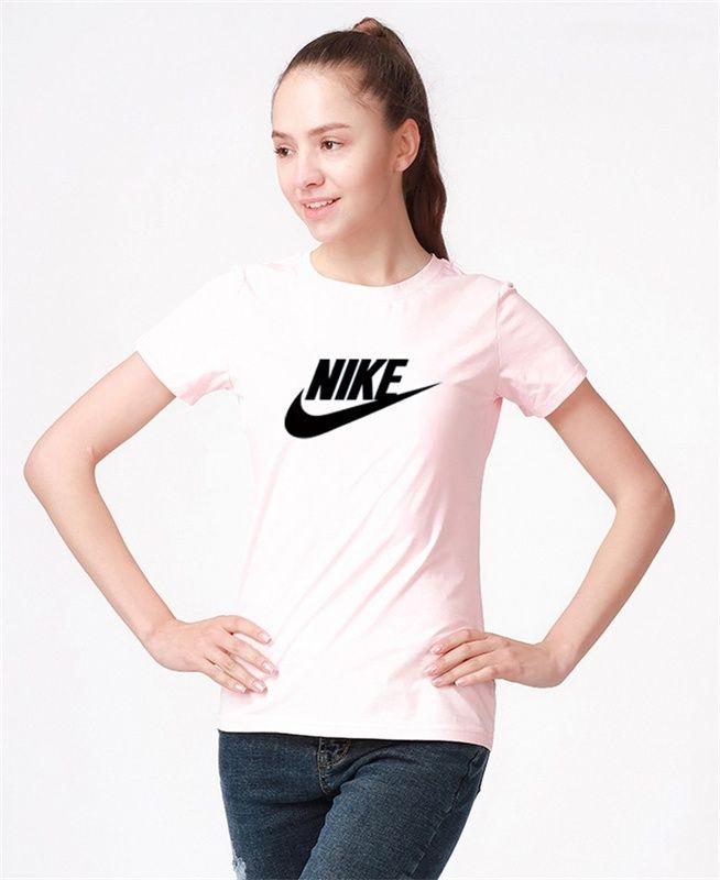 9f784f02ab7 2018 Popular Nike Sportswear Essential Womens Logo Short Sleeve Top Pink